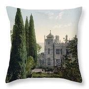 Imperial Castle In Alupku -ie Alupka -  Crimea - Russia - Ukraine Throw Pillow