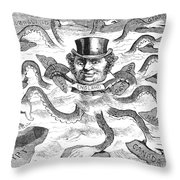 Imperialism Cartoon - To License For Professional Use Visit Granger.com Throw Pillow