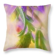 Impression Of Asters Throw Pillow