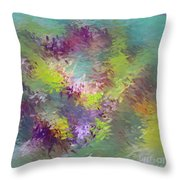 Impressionistic Abstract Throw Pillow