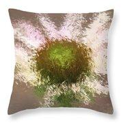 Impressionistic Echinacea Throw Pillow