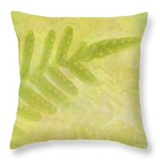 Impressions Of A Fern Throw Pillow