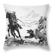 Impressions Of The West Throw Pillow