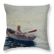 In A Boat Throw Pillow