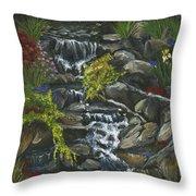 In A Country Garden Throw Pillow
