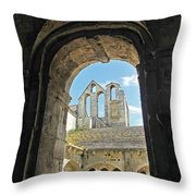 In A Monastery  Throw Pillow