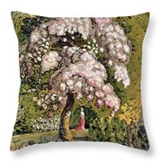 In A Shoreham Garden Throw Pillow