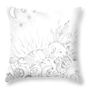 In A World Of Wonder Throw Pillow