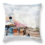 In Attesa Oltre Il Canale Throw Pillow
