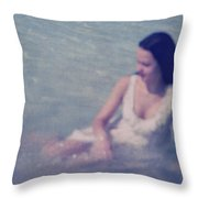 In Blue. Impressionism Throw Pillow