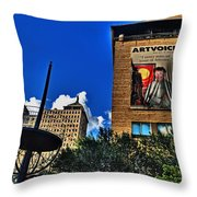 In Downtown Buffalo Throw Pillow