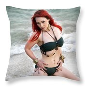 In Her Element Throw Pillow
