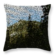 In Longing Dreams The Vision Comes Throw Pillow