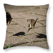 In Mid-air  Throw Pillow