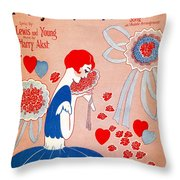 In My Bouquet Of Memories Throw Pillow