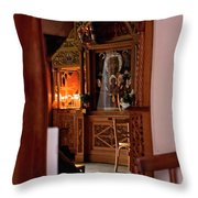 In Private Prayer Throw Pillow