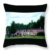 In Remembrance Of 9-11 Throw Pillow