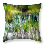 In The Bog Throw Pillow