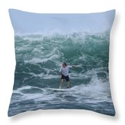 In The Center Of The Swell Throw Pillow
