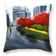 In The City 2 Throw Pillow