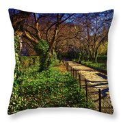 In The Conservatory Garden Throw Pillow