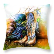 In The Garden Throw Pillow by Adam Vance
