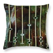 In The Garden Green Throw Pillow