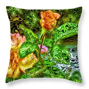 In The Garden Of Dreams Throw Pillow