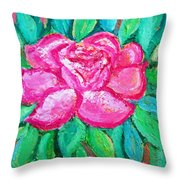 In The Garden Of Happiness Throw Pillow