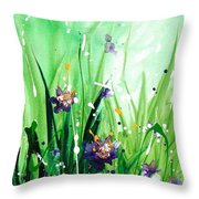 In The Garden V Throw Pillow