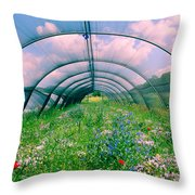 In The Greenhouse Throw Pillow