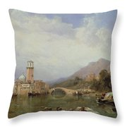 In The Gulf Of Venice Throw Pillow