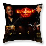 In The Hard Rock Cafe Throw Pillow