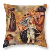 In The Luxembourg Gardens Throw Pillow by Pierre Auguste Renoir