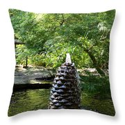 In The Midst Of The Golden Pond Throw Pillow