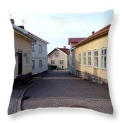 In The Old Town With New Possibilities Throw Pillow