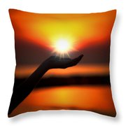 In The Palm Of My Hand Throw Pillow