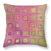 In The Pink With Squarish Squares  Throw Pillow