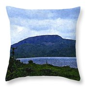 In The Shelter Of The Blue Cliff 2 Throw Pillow