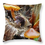 In The Strawberry Patch  Throw Pillow
