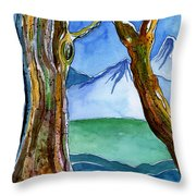 In The Style Of Tolkien Throw Pillow