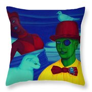 In The Theatre Of Time Throw Pillow