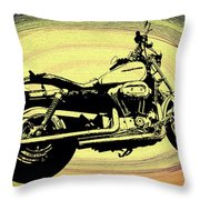 In The Vortex - Harley Davidson Throw Pillow