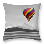 In Their Own World Colorado Ballooning Throw Pillow