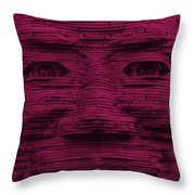 In Your Face In Hot Pink Throw Pillow