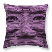 In Your Face In Light Pink Throw Pillow