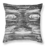 In Your Face In Neagtive Throw Pillow
