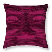In Your Face In Negative  Hot Pink Throw Pillow