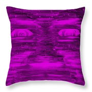 In Your Face In Negative Purple Throw Pillow