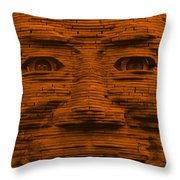 In Your Face In Orange Throw Pillow